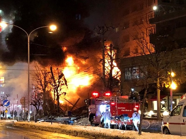 more than 40 injured in explosion in japan s sapporo