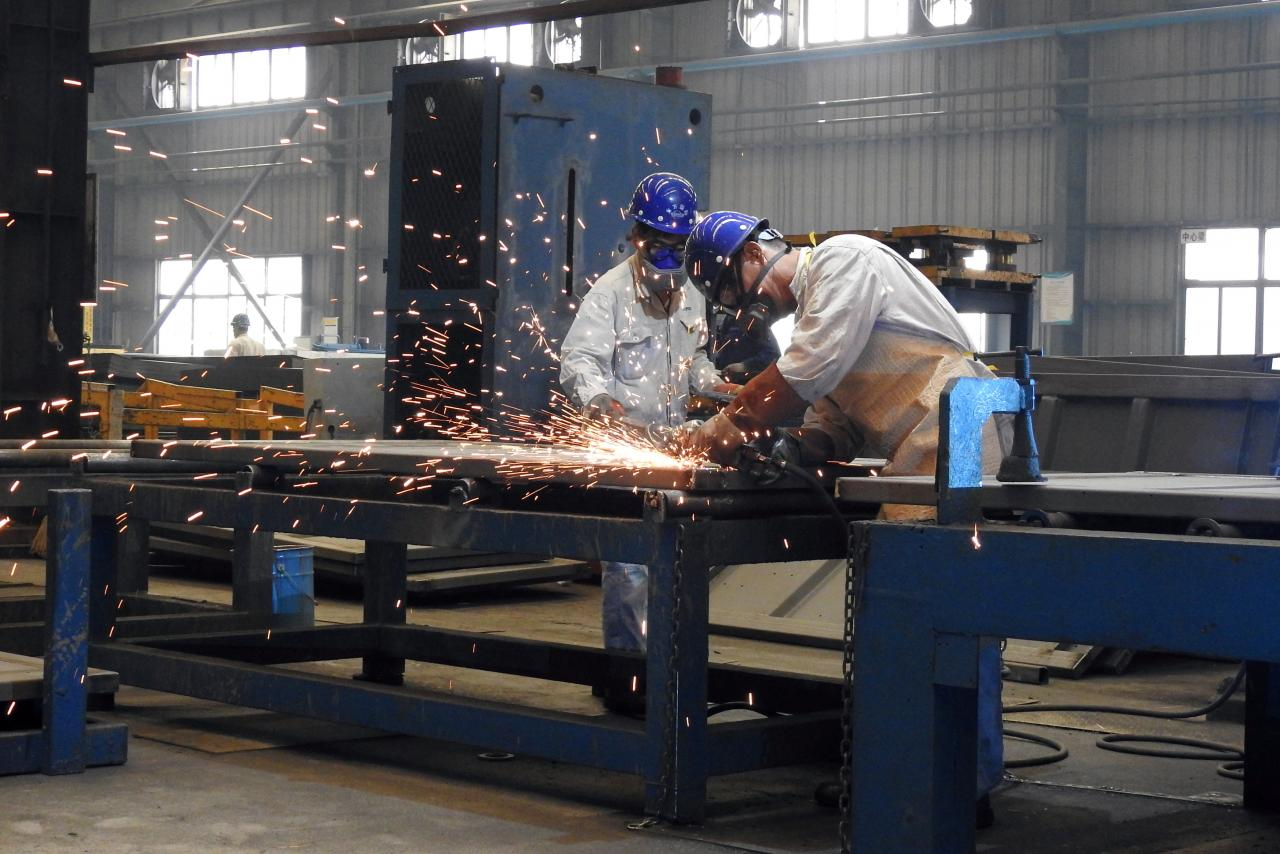 Large-scale manufacturing at highest in five months
