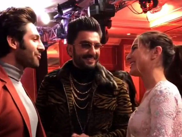 ranveer singh plays cupid for sara ali khan kartik aaryan