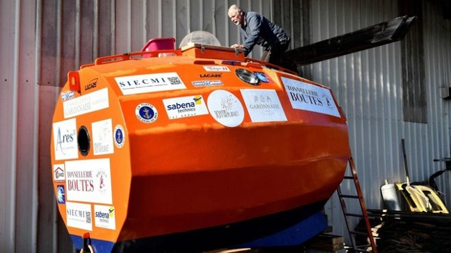 71 year old frenchmen all set to sail the atlantic in a barrel