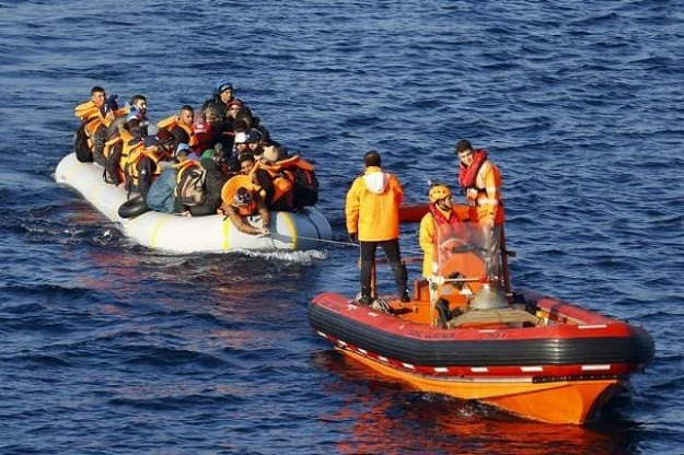 children play on migrant rescue boat headed for spain