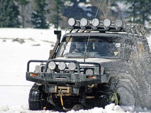 eighth k p snow jeep rally starts tomorrow