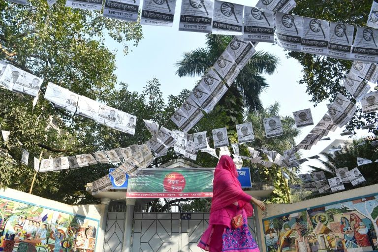 Prime Minister Sheikh Hasina is seeking a record fourth term in Sunday's election. PHOTO: AFP