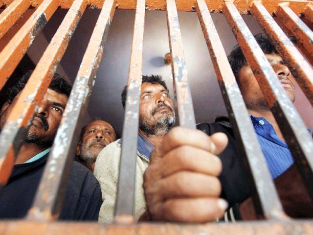 Hundreds of Pakistanis languishing in Indian jails, several of whom have completed their sentences. PHOTO: REUTERS