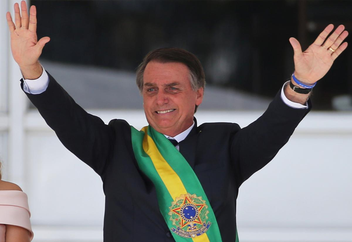 bolsonaro takes office in brazil says nation liberated from socialism