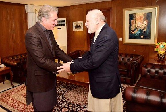 Afghan envoy calls on FM Shah Mehmood Qureshi: PHOTO: NNI