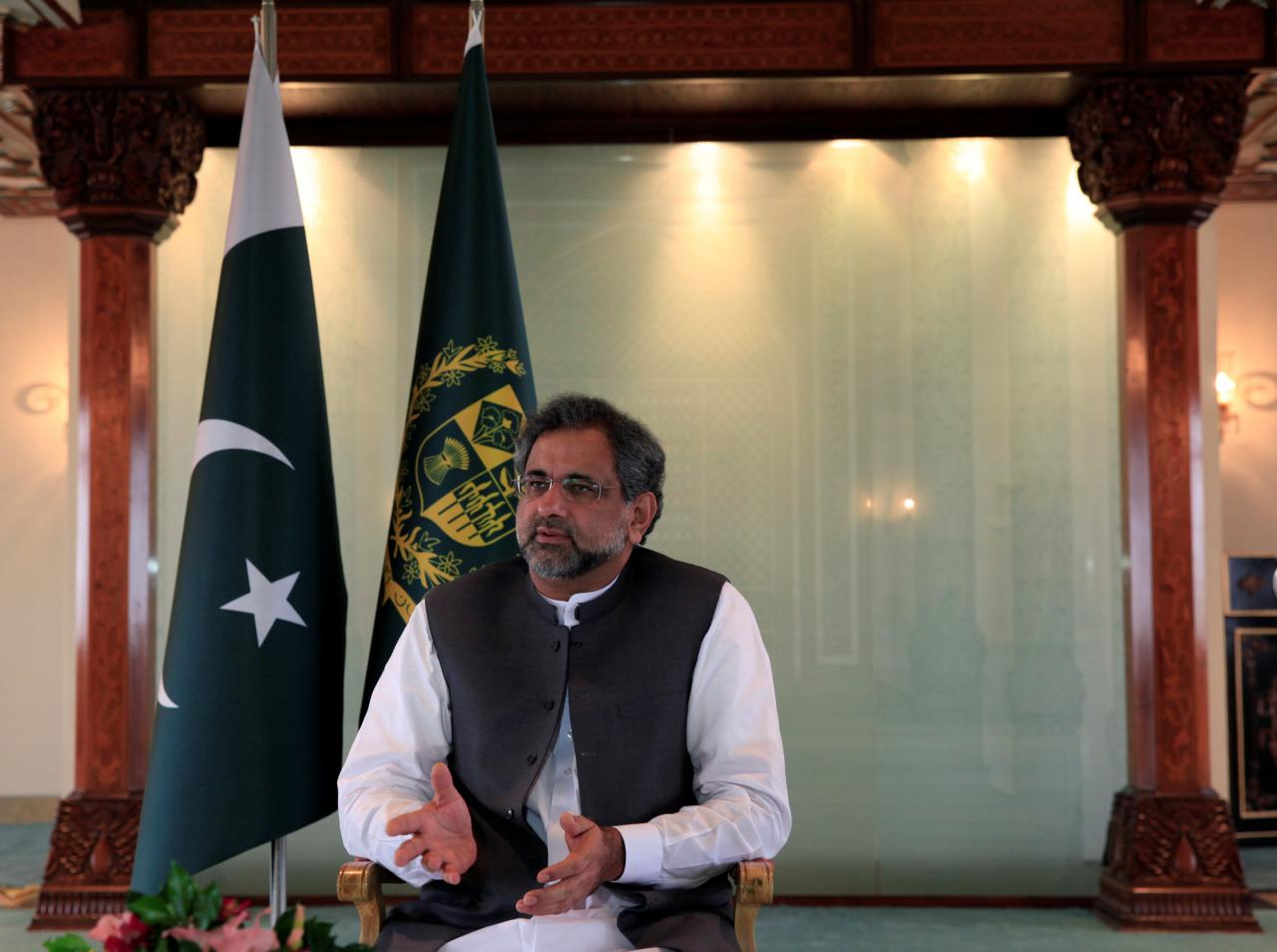 former prime minister shahid khaqan abbasi photo reuters
