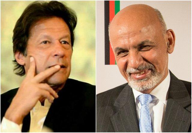 pm imran khan and afghan president ashraf ghani