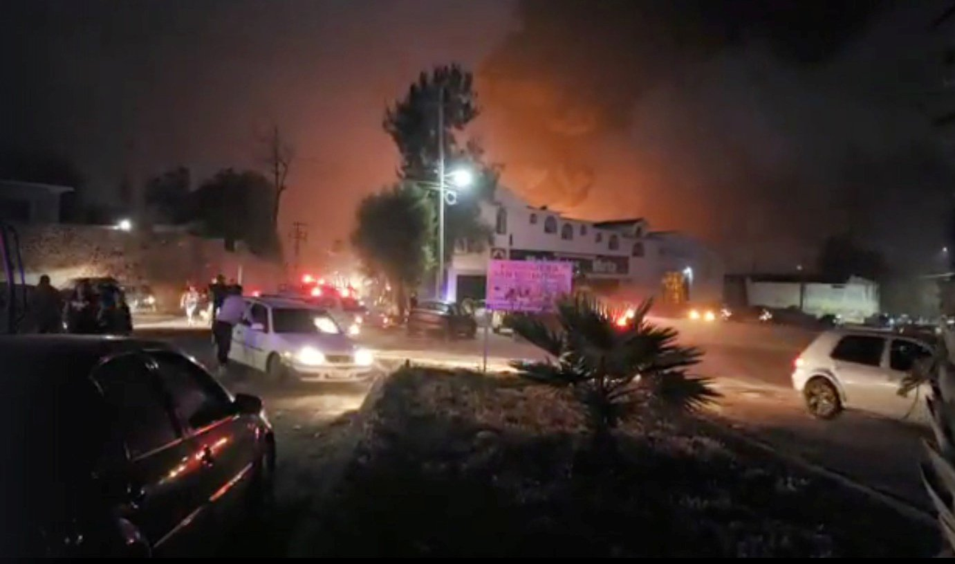 people react at the scene where a ruptured fuel pipeline exploded in the municipality of tlahuelilpan hidalgo mexico near the tula refinery of state oil firm petroleos mexicanos pemex january 18 2019 in this still image taken from a video obtained from social media photo reuters