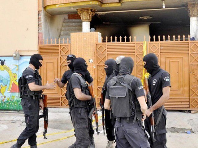 They were taken into custody on Saturday and a case has been registered under articles of murder and terrorism. PHOTO: EXPRESS