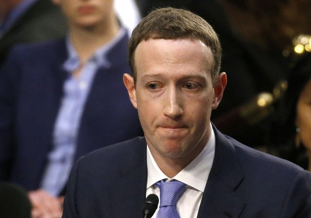 Facebook CEO Mark Zuckerberg listens while testifying before a joint Senate Judiciary and Commerce Committees hearing regarding the company's use and protection of user data, on Capitol Hill in Washington, US, April 10, 2018.  PHOTO: REUTERS