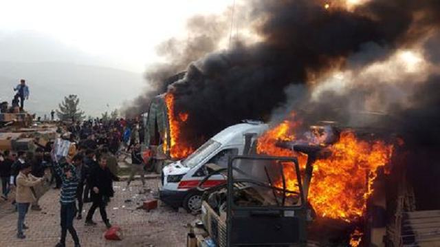 protesters storm turkish base in iraq s kurdish region