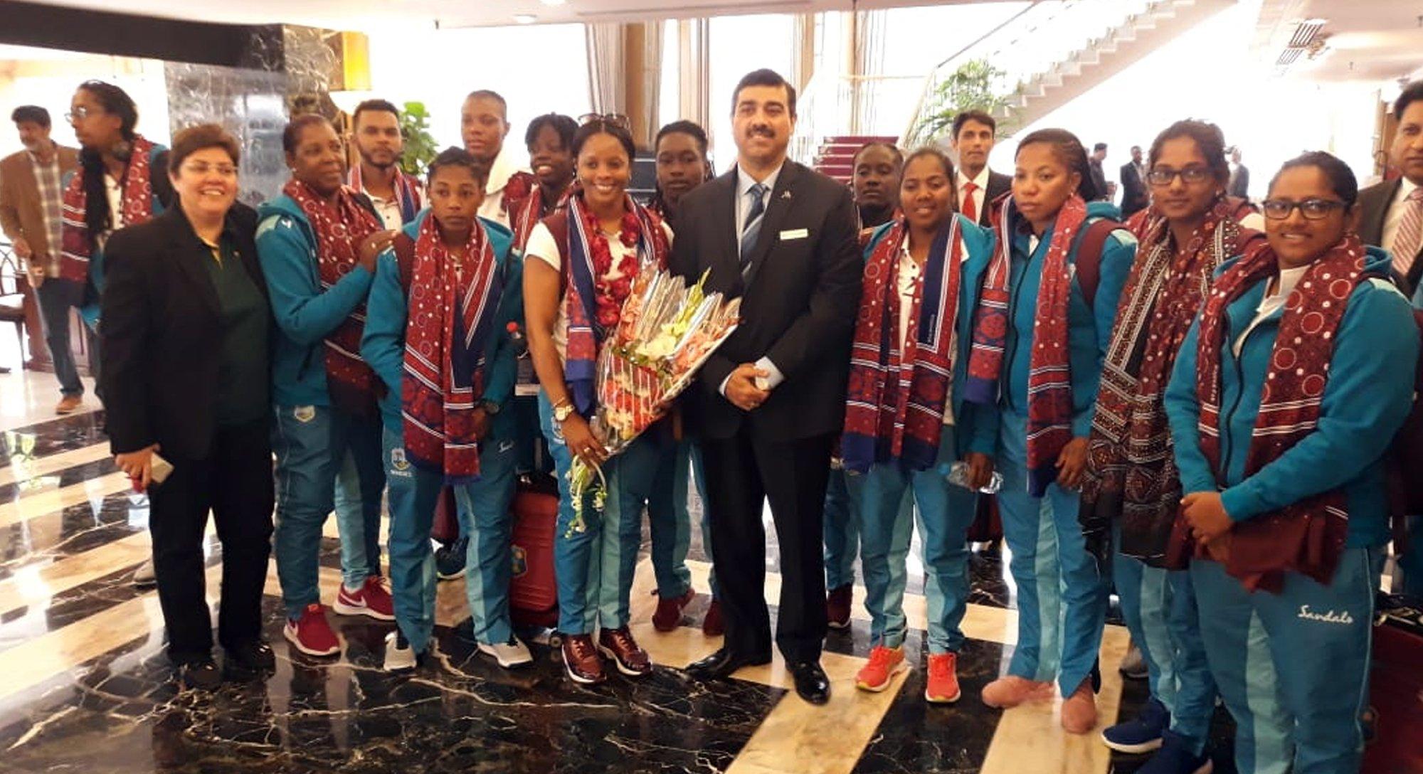 west indies women s team arrive in karachi for t20i series