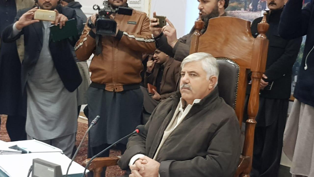 k p cm chairing meeting in landi kotal photo express