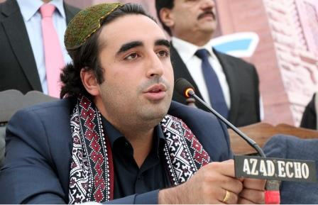 PPP Chairman Bilawal Bhutto Zardari during 'Meet the press' programme at Karachi Press Club in Karachi. PHOTO: PPI