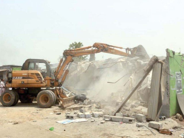 illegal construction in tarnol areas demolished