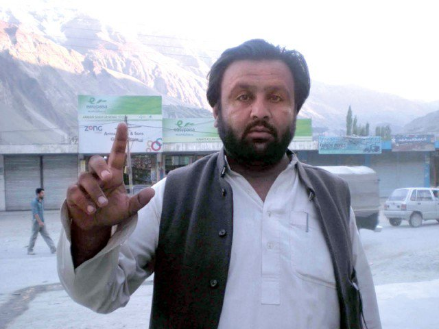 rights activist baba jan hunzai photo file