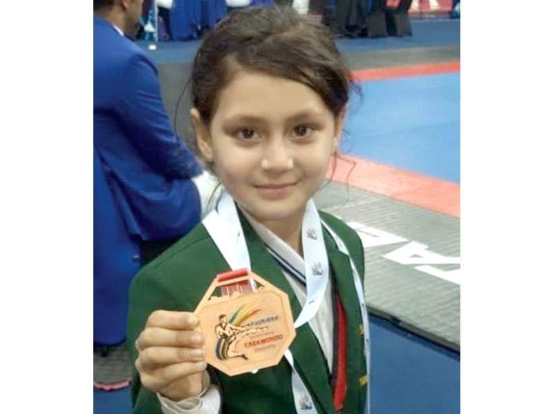 taekwondo championship swat girl bags bronze medal in uae meet