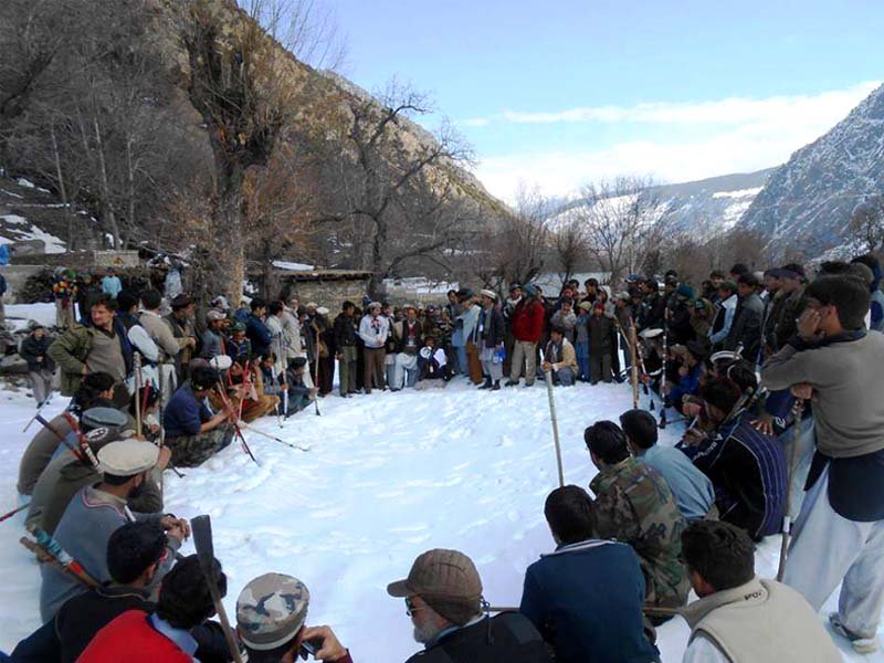 snow golf means joys laughter and feast in chitral