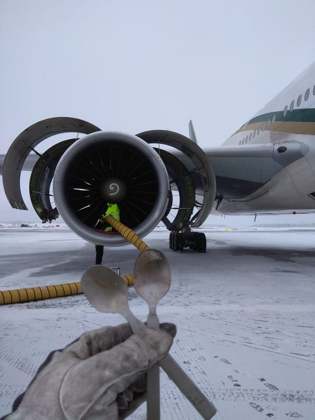 Flight PK 752 landed in Oslo on Feb 6 but was unable to make return journey after technical fault in engine. PHOTO: PIA