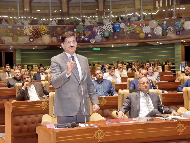 sindh chief minister syed murad ali lambasted the provincial police department over its handling of the irshad ranjhani murder case and demanded to register firs against the local police officials photo ppi
