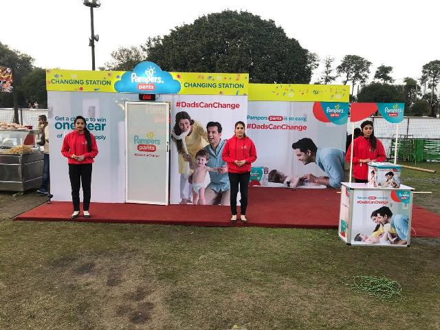 pampers diaper changing stations save the day for parents at lahore eat