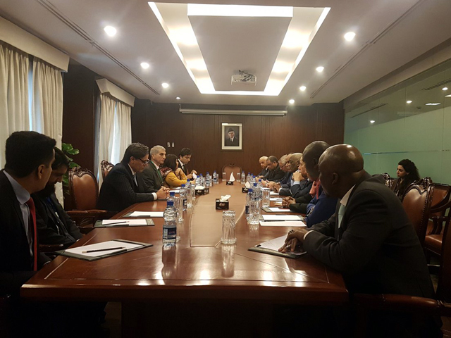 foreign secretary tehmina janjua takes ambassadors of african countries and sco states into confidence on the pulwama attack at a special briefing at the foreign office photo fo
