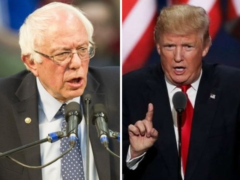 us president also said he thought sanders was quot not treated with respect quot when he ran against clinton in 2016 photo afp
