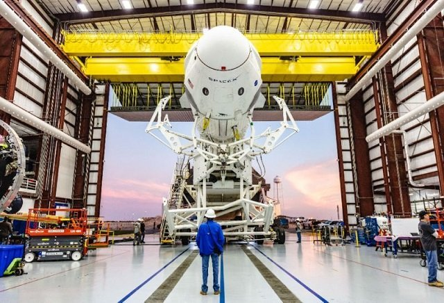 a falcon 9 rocket from the private us based spacex is scheduled to lift off weather permitting on march 2 to take the crew dragon test capsule to the iss photo afp