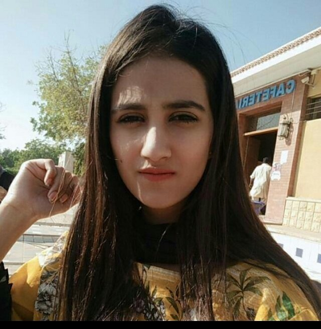Nimra Baig, a student from Karachi, was fatally shot after she was caught in a cross fire between police and robbers. PHOTO: EXPRESS