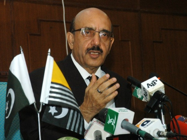 Masood Khan says Indian blame game can be proved counterproductive and 'reduce India to ashes'. PHOTO: EXPRESS/FILE
