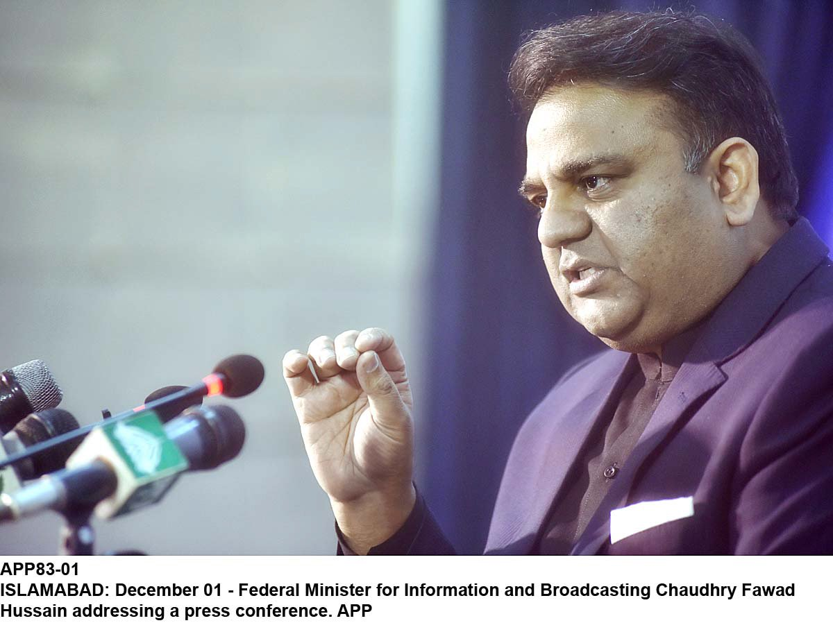 pemra also instructed to take action against advertisements produced in the neighbouring country says information minister fawad chaudhry photo app file