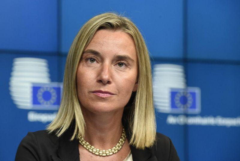 EU diplomatic chief Federica Mogherini. PHOTO: AFP
