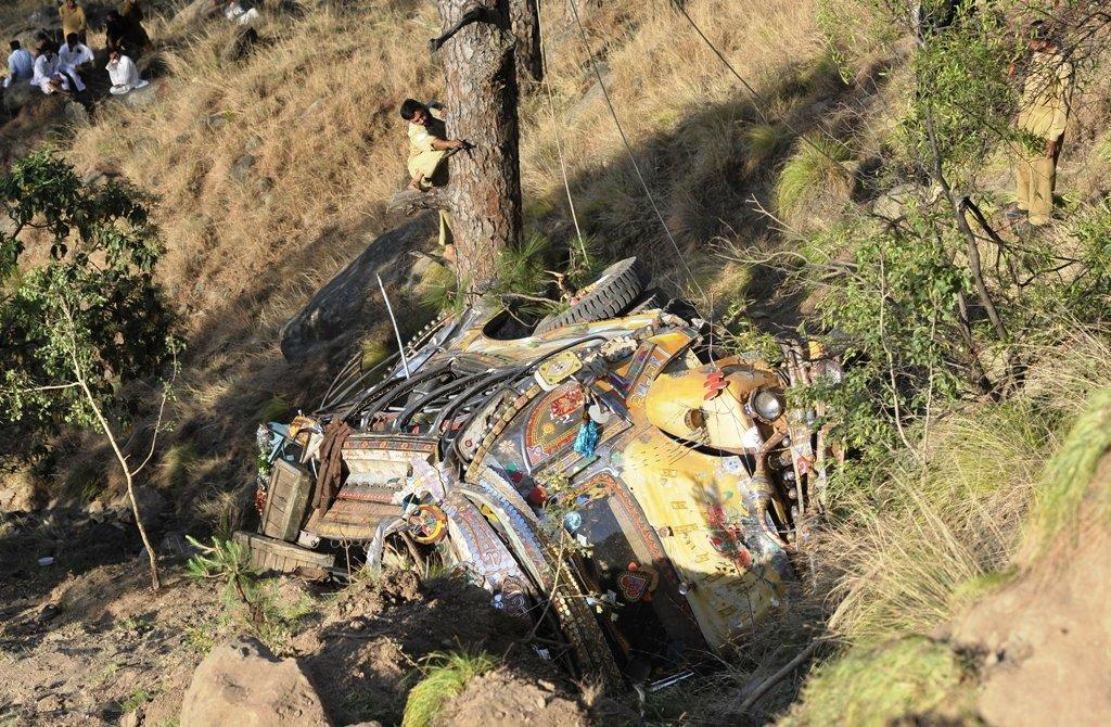 representational image of a bus crash photo afp