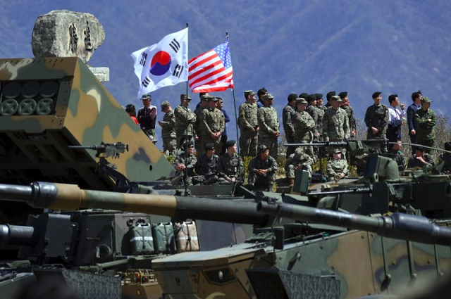 us and south korean forces have been training together for years and routinely rehearse everything from beach landings to an invasion from the north and even 039 decapitation 039 strikes photo afp