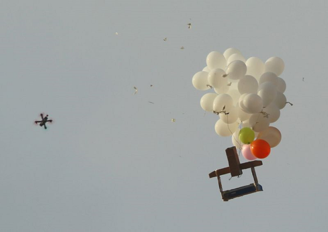 israel hits hamas sites after balloons with explosive device