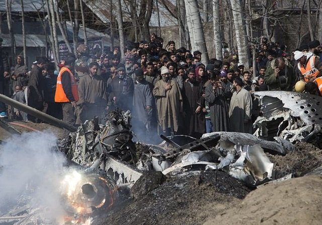 six indian air force officials and a citizen were killed in the budgam crash on february 27 photo courtesy first post india