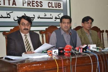 information minister zahoor buledi during press conference in quetta photo online