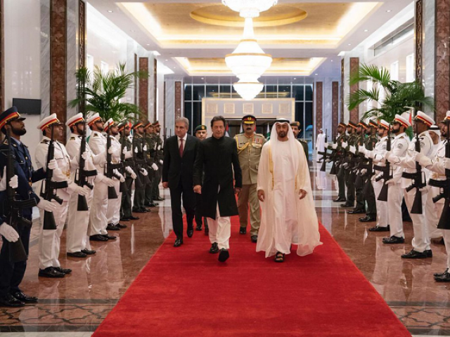 mohamed bin zayed receives imran khan prime minister of the islamic republic of pakistan who is on an official visit to the uae photo courtesy twitter mohamedbinzayed