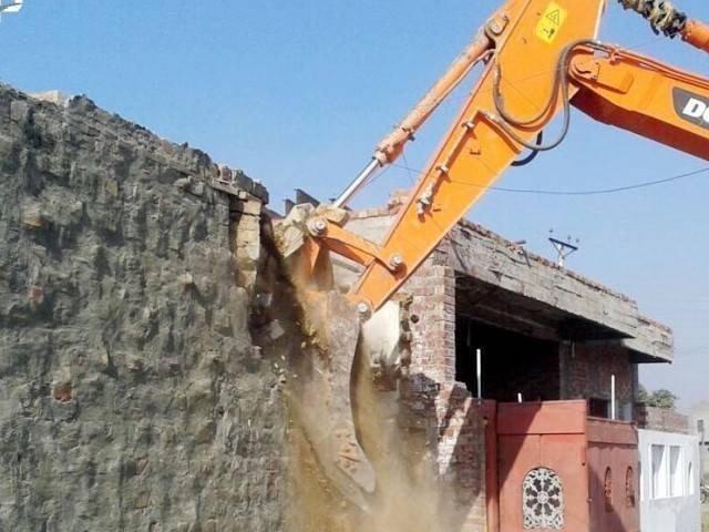 gujar khan municipal corporation had demolished seven encroachments in the lunda bazar photo file