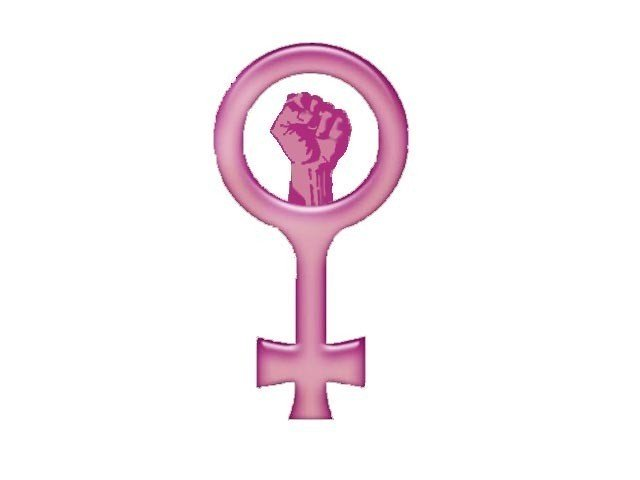 women urged to fight for their rights photo stock image