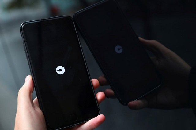 the uber logo is seen on mobile telephone in london britain september 25 2017 photo reuters