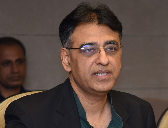 finance minister asad umar photo afp
