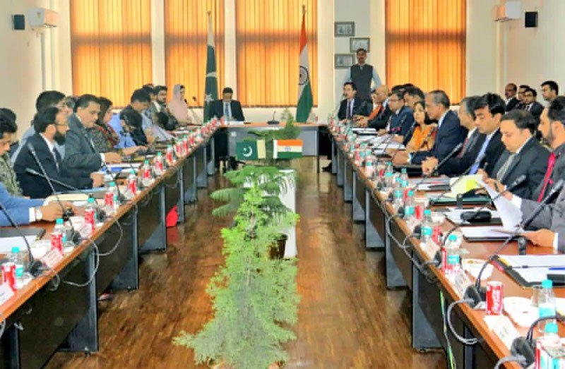 pak india talks on kartarpur corridor underway at attari photo express