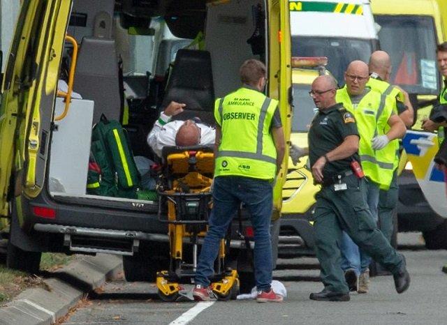 an injured person is loaded into an ambulance following a shooting at the al noor mosque in christchurch new zealand march 15 2019 photo reuters