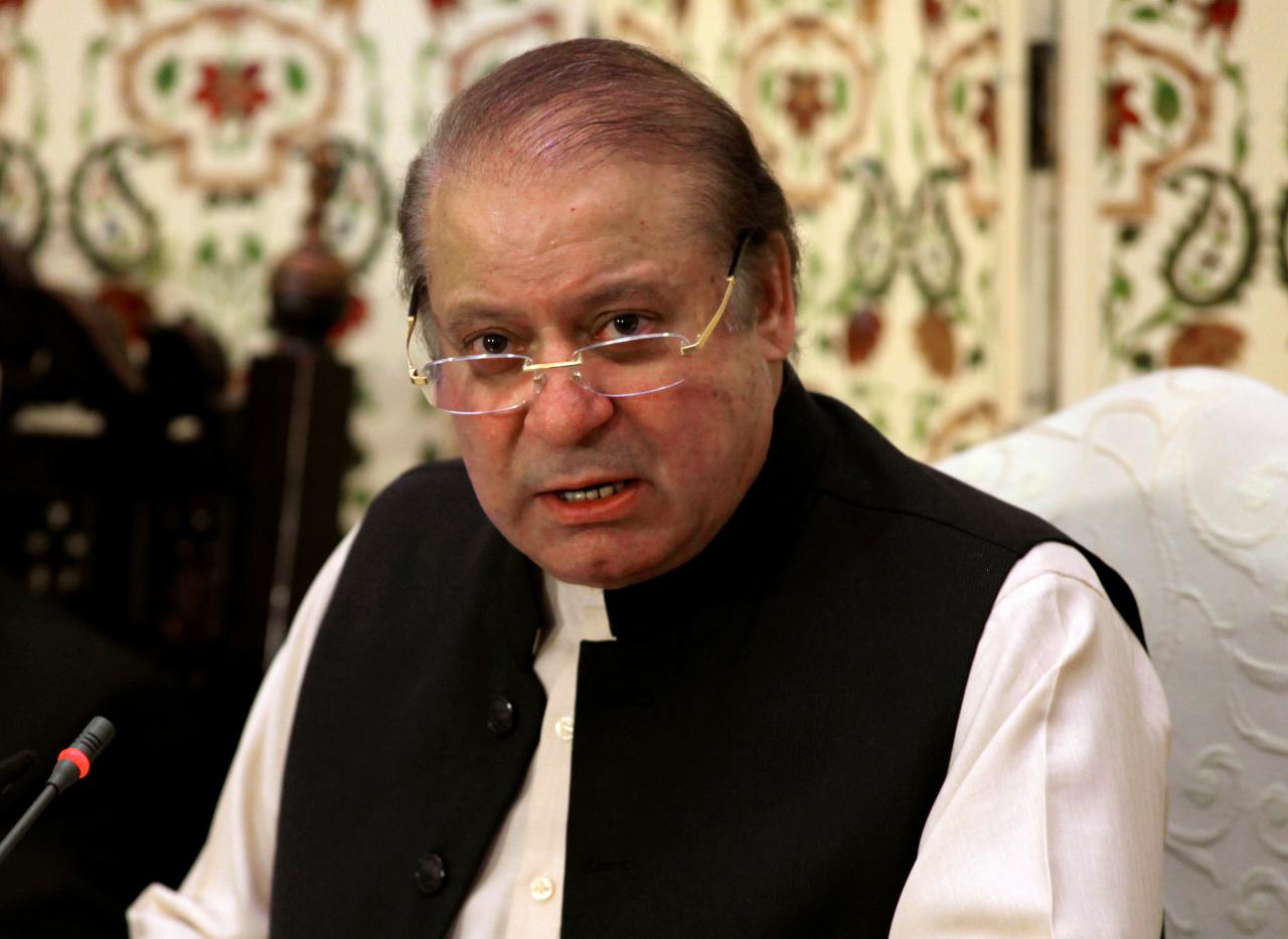 three time premier nawaz sharif is serving a seven year imprisonment in al azizia reference photo file
