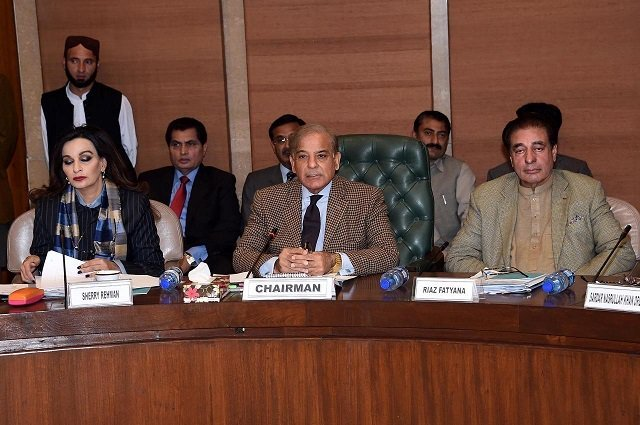 in this file phoot leader of the opposition in the national assembly shehbaz sharif chairs a meeting of the public accounts committee photo pid