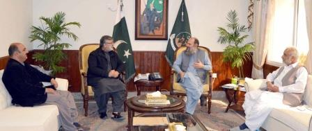 cm jam kamal khan in a meeting with former senior advocate kamran murtaza at the cm secretariat in quetta photo express