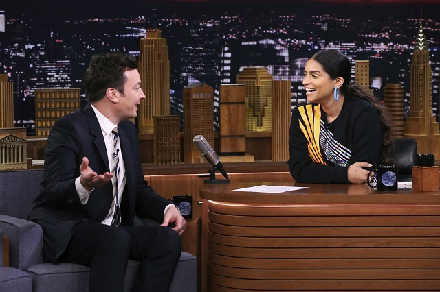 host jimmy fallon and comedian lilly singh switch places during their interview on march 14 2019 photo nbc