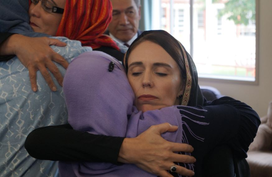 pm jacinda comforts families affected by the christchurch attacks photo twitter